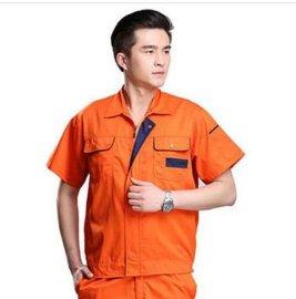 工作服短袖套装男 汽修服工程服 工衣厂服 夏季工作服
