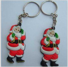 吊饰 三D吊饰 PVC手机吊饰 圣诞老人吊饰