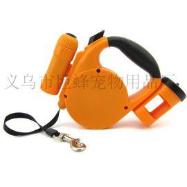 5米新款LED+垃圾袋自動伸縮寵物牽引器 JF-QM555