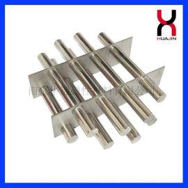 强磁食品料仓磁力架 干粉、颗粒专用磁力架 注塑机七管圆形磁力架