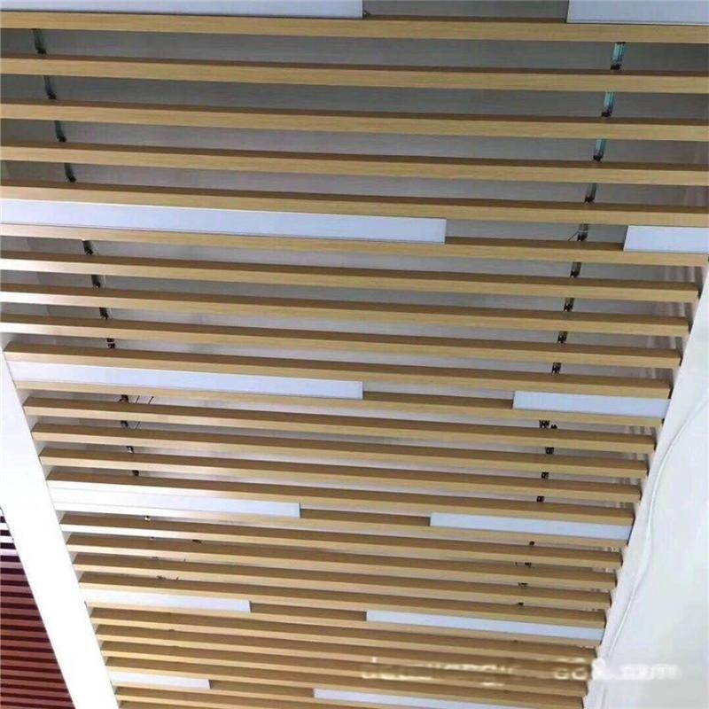 木紋鋁方管定製 仿木紋四方管吊頂密拼對接【高級鋁方通吊頂】