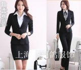 上海三羽鸽厂家专业量身定做西服女士西装商务白领办公制服套装