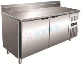 厨房不锈钢沙拉台/ 靠背式厨房工作台 家用厨房冷柜