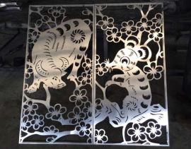 柳叶型雕花镂空铝单板 招牌广告雕刻铝单板定制厂家