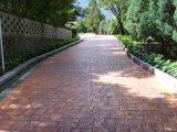 模压地坪模具压出的花纹路面压花地坪用什么材料