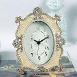 歐式創意牀頭無鬧鐘時鐘錶擺件  家居工藝品樣板房間擺件靜音