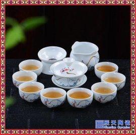 景德镇双层茶具套装整套功夫茶具陶瓷茶壶茶杯茶盘双层隔热