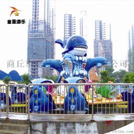 广场大型游乐设备激战鲨鱼岛商丘童星引领财富商机