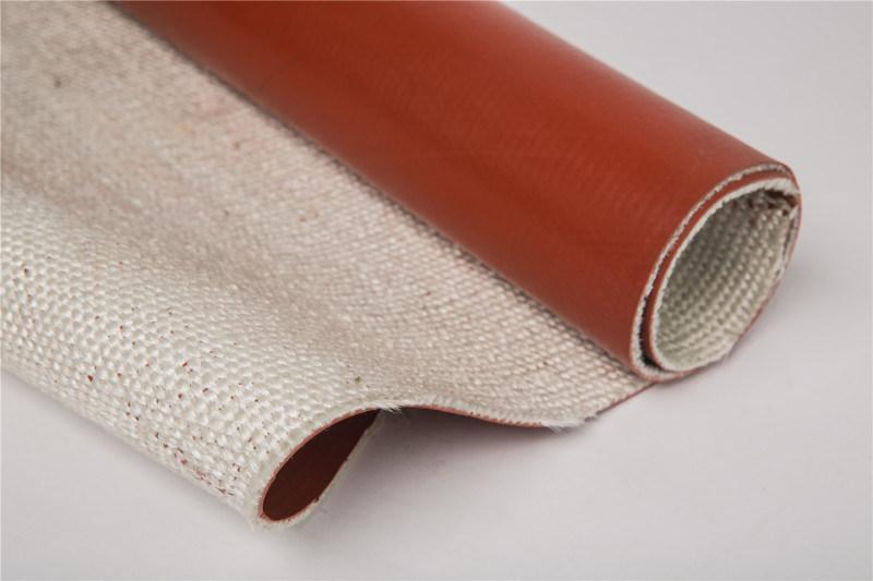 供应耐高温玻璃纤维硅橡胶布
