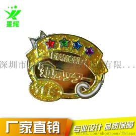金属烤漆珐琅胸针logo异形镂空徽章勋章定制