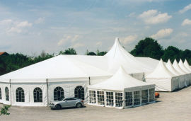 卡帕低价租15*30米组合篷房/别铝合金异形帐篷