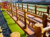 四川木质栏杆厂,景区绿化道围栏设计安装
