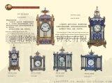 河北餘威古典鐘錶景泰藍掐絲琺琅座鐘純銅機械落地鍾