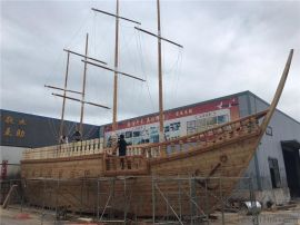 大型户外儿童游乐木质海盗船景观装饰船厂家定制