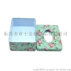 厂家批发YESHI马口铁方形纸巾罐纸巾铁罐