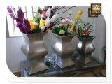 桌面摆放花桶花器不锈钢花盆制作厂家哪里可以做
