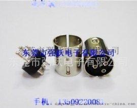 中3P公头,MINIDIN4PIN公头粗针,实心铜镀镍