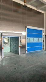 电动PVC快速卷帘门 自动感应升降门