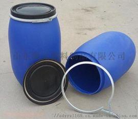 120升大口法兰塑料桶120公斤卡箍桶厂家