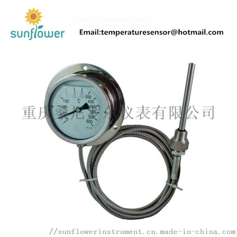 WTZ-280F 充油耐震防腐压力式温度计