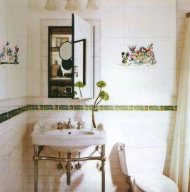 淋浴室装饰水转印贴纸