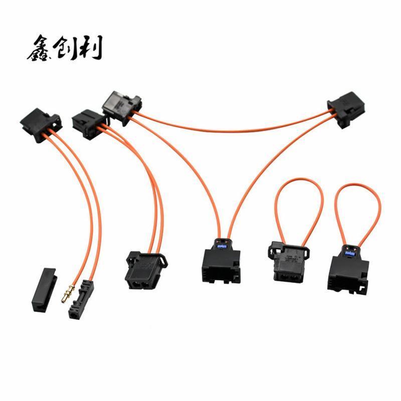MOST汽车光纤线LOGIC7哈曼卡顿功放主机连接测试f18光纤线带插头