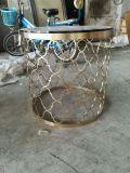 定做不鏽鋼金屬鏤空茶几不鏽鋼會所  角幾定製