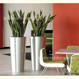 组合不锈钢大花盆定制园艺摆件创意家居圆形花盆定制