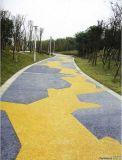 桓石地坪艺术铺装道路高强度C25抗压25MP高渗透彩色混凝土透水地坪露骨料混凝土道路,改善城市水环境