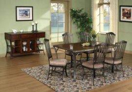 美式家具 长方形铁艺餐桌