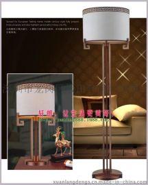 中式仿古铁艺布罩落地灯客厅卧室酒店客房床头壁灯中式现代落地灯