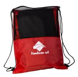 定做网袋-束口尼龙拉绳网袋-涤纶拉绳网袋-运动会展会网眼袋