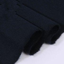 厂家直销山羊绒大衣面料 短顺羊绒粗纺面料 蟹青**纯绒面料