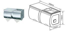 不锈钢厕纸箱 双卷不锈钢纸巾架 小卷卫生纸盒