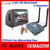 厂家现货供应2.4G+5G双频双天线Airplay车载手机互联安卓同屏盒子