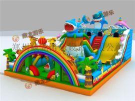 兒童玩具充氣跳跳牀廠家,海底世界熊出沒氣墊牀跳跳牀