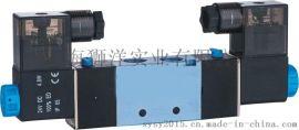气动元件电磁阀4V220-06/08-220V/24V气缸配件控制阀气阀快排阀门
