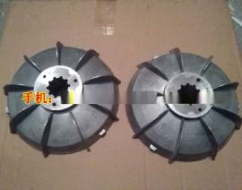 JS500混凝土搅拌机料斗提升电机风叶制动轮 5.5kw电机刹车风叶 刹车鼓配件