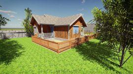 河北木屋别墅木结构景观图纸设计