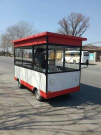 多功能电动餐车流动百货车