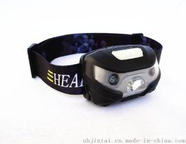 热销爆款 USB充电头灯 夜跑感应灯 内置电池户外头灯 XPE 3w高亮头灯 防水头灯