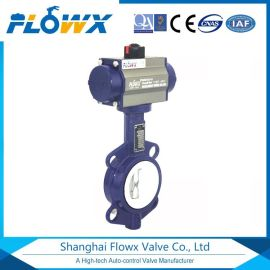 应用于化工行业 FQ型电动头衬四氟蝶阀