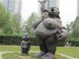 仿古銅鑄玻璃鋼雕塑 浮雕人物景觀石雕