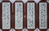 陶瓷瓷板畫屏風批發直銷加工瓷板畫定制宣傳畫瓷板畫定做
