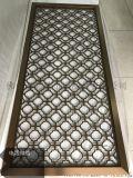 簡易客廳玫瑰金鋁板雕刻鏤空屏風隔斷、家用屏風全圖