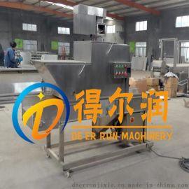 DR2银鱼上浆裹糠机用料要求 鱼块上浆裹粉设备调试