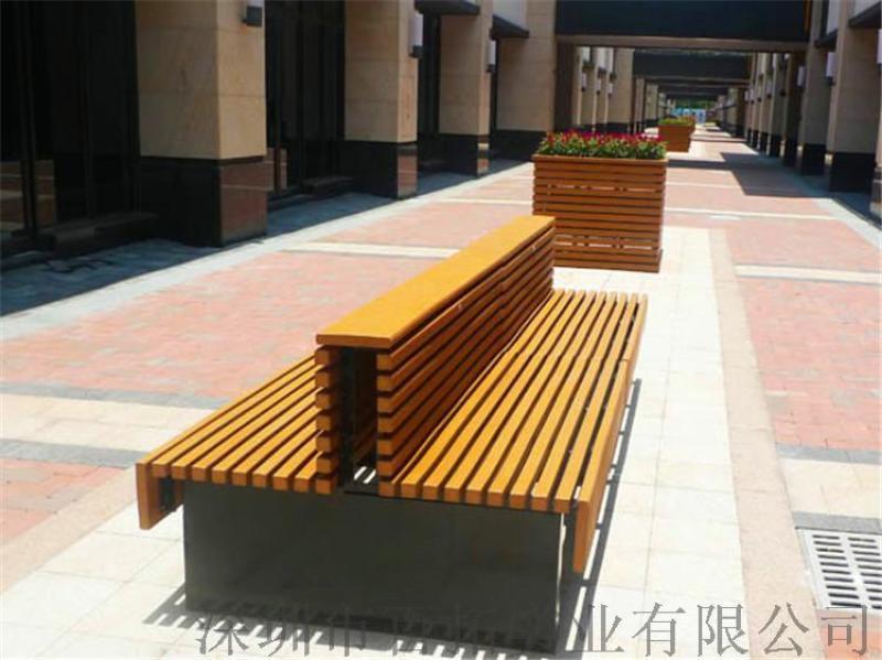 木塑公園座椅戶外座椅休閒座椅 靠背椅1.5米
