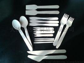 木质刀叉勺 一次性刀叉勺 木刀木叉木勺
