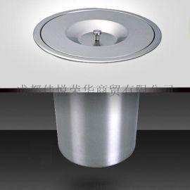 台面垃圾桶 不锈钢嵌入式厨房收纳桶 台面清洁筒