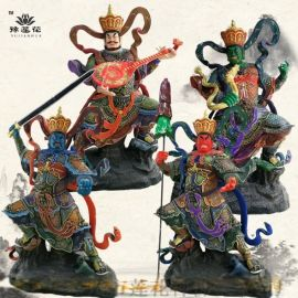 道教四大天王佛像四大金刚和佛教四大天王神像有什么区别
